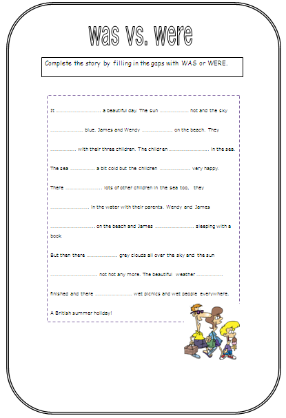 Worksheets Was Were Work Sheet accessj ws was and were jhs 2nd g this sundays worksheet is a nice little story knocked together by my talented laura it makes use of typ