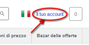 Camelizer: avvio account