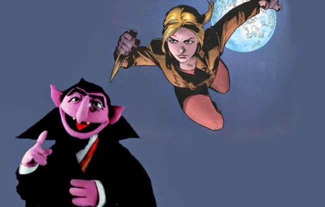 Buffy the Vampire Slayer stakes Sesame Street's The Count