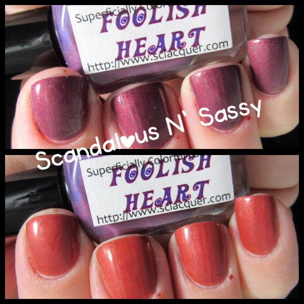 Superficially Colorful Lacquer Foolish Heart thermal compare