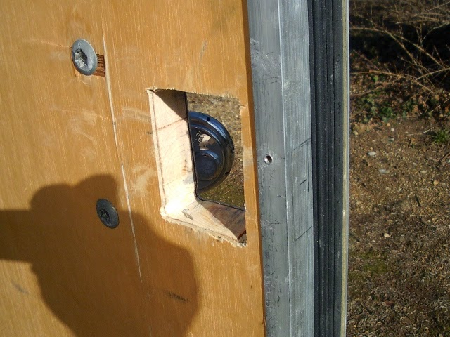 how to cut hole for lock external door