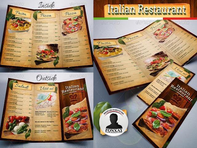 المجموعة 3 لمنيوهات الطعام الاحترافية