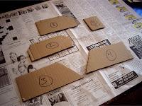 Cardboard templates for bridge abutments