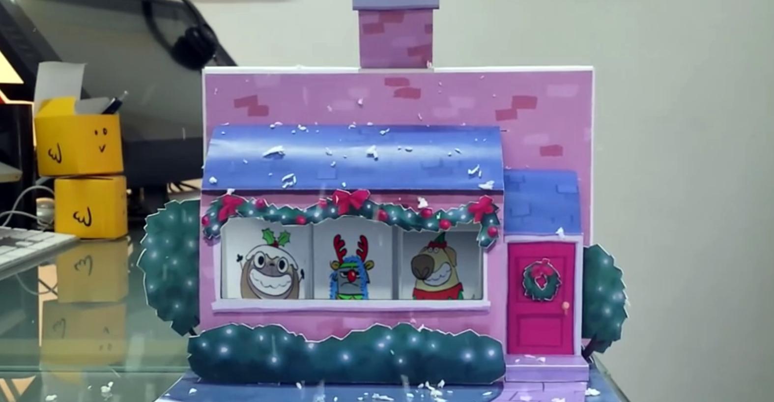 La Nuez Cuando Los Animadores Se Saludan Por Navidad