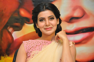 Samantha Latest Pictures in Saree at Manam Movie Promotion