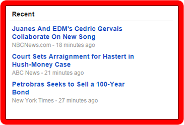 Google News picks the most recent news automatically