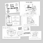 Carteles para colorear en el Día Internacional del Libro