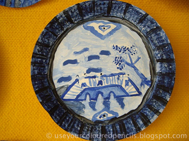 Willow Pattern Paper Plates. My mum has always had a large Willow Pattern collection and the images have fascinated me for a long time. & Use Your Coloured Pencils: Willow Pattern Paper Plates