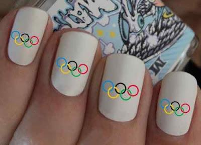 olympics rings nails