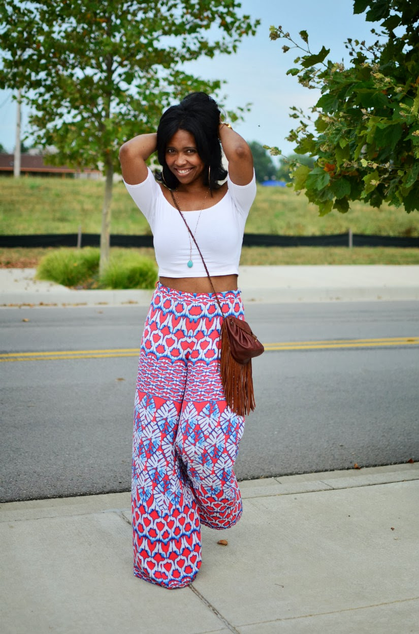 High waist pants with crop top