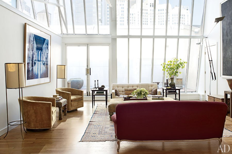 A new york city loft decorated by milly de cabrol home appliance - Loft new yorkais deco ...