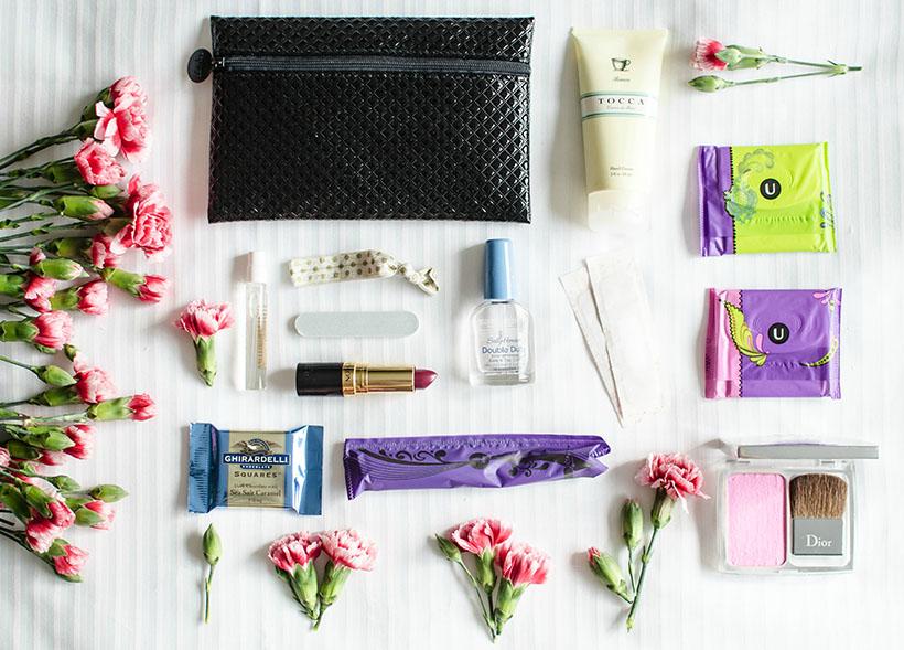 u by kotex beauty bag lay down #UBYKOTEXSTARS