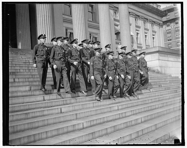 8/26/37: U.S. Treasury guards blossom out in new uniforms. Washington, D.C.