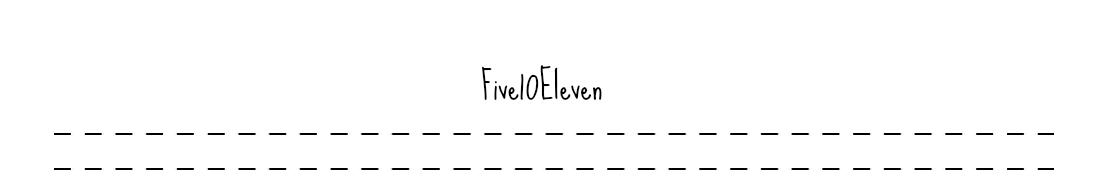 Five 10 Eleven