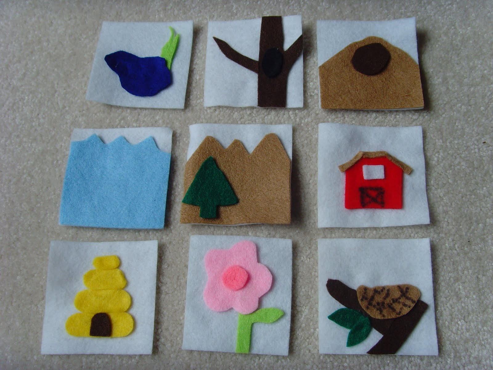 Matching game of animal habitats i made 9 cards that show an animal s