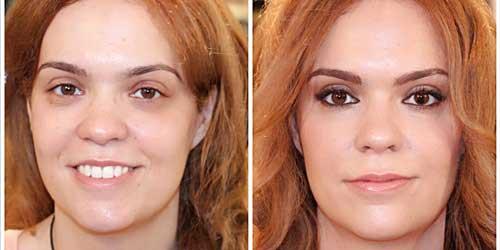maquillaje antes y despues para ojos separados