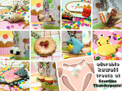 Kawaii jewellery and accessories at Grandma Thunderpants