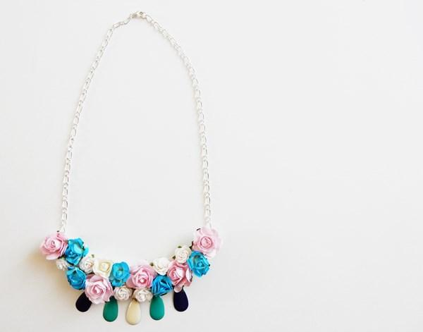 DIY : collier plastron fleuri