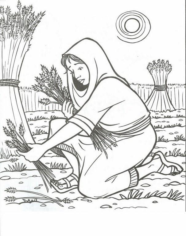 Imagenes Cristianas Para Colorear: Rut y Noemi Para Colorear