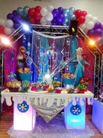 Hermosa decoración de Frozen