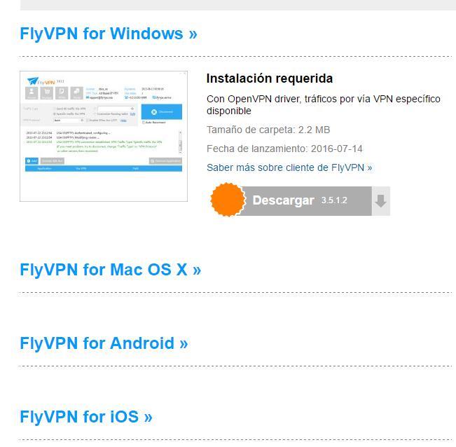 Descargar flyvpn gratis