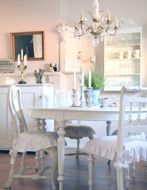 Shabby chic en el comedor decorar tu casa es - Comedores estilo vintage ...