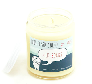 Part of our Book Lovers' Series, this candle is a completely original scent inspired by the smell of old books! Ideal for bibliophiles of all sorts. The scent is a sweet and floral earthy smell with a hint of must. (Not mildewy, rotten old books!)   Scents: Timber, White Tea, Newsprint, Must  Materials: Glass jar, soy wax, cotton wick, dye chips and fragrance oil.
