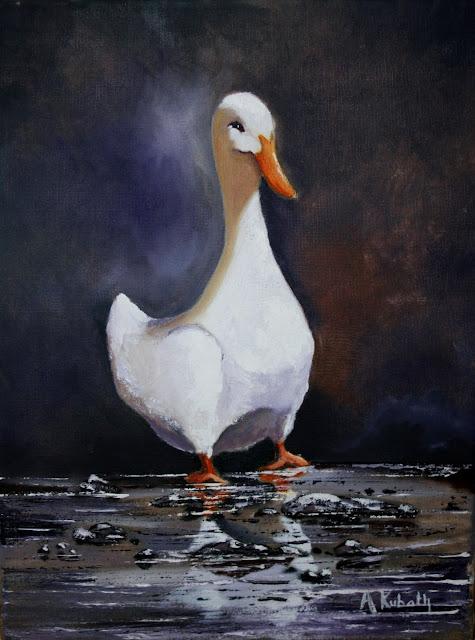 Angela Kubath, duck, badling