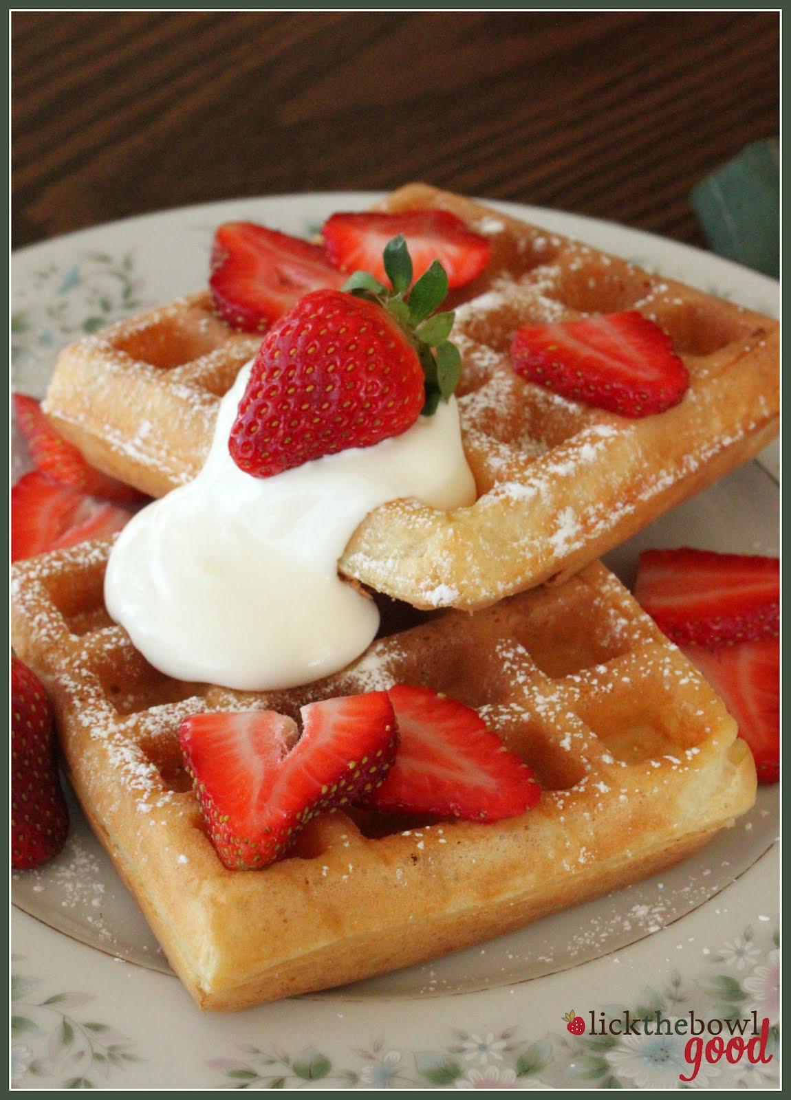 Belgian Waffles Recipe — Dishmaps
