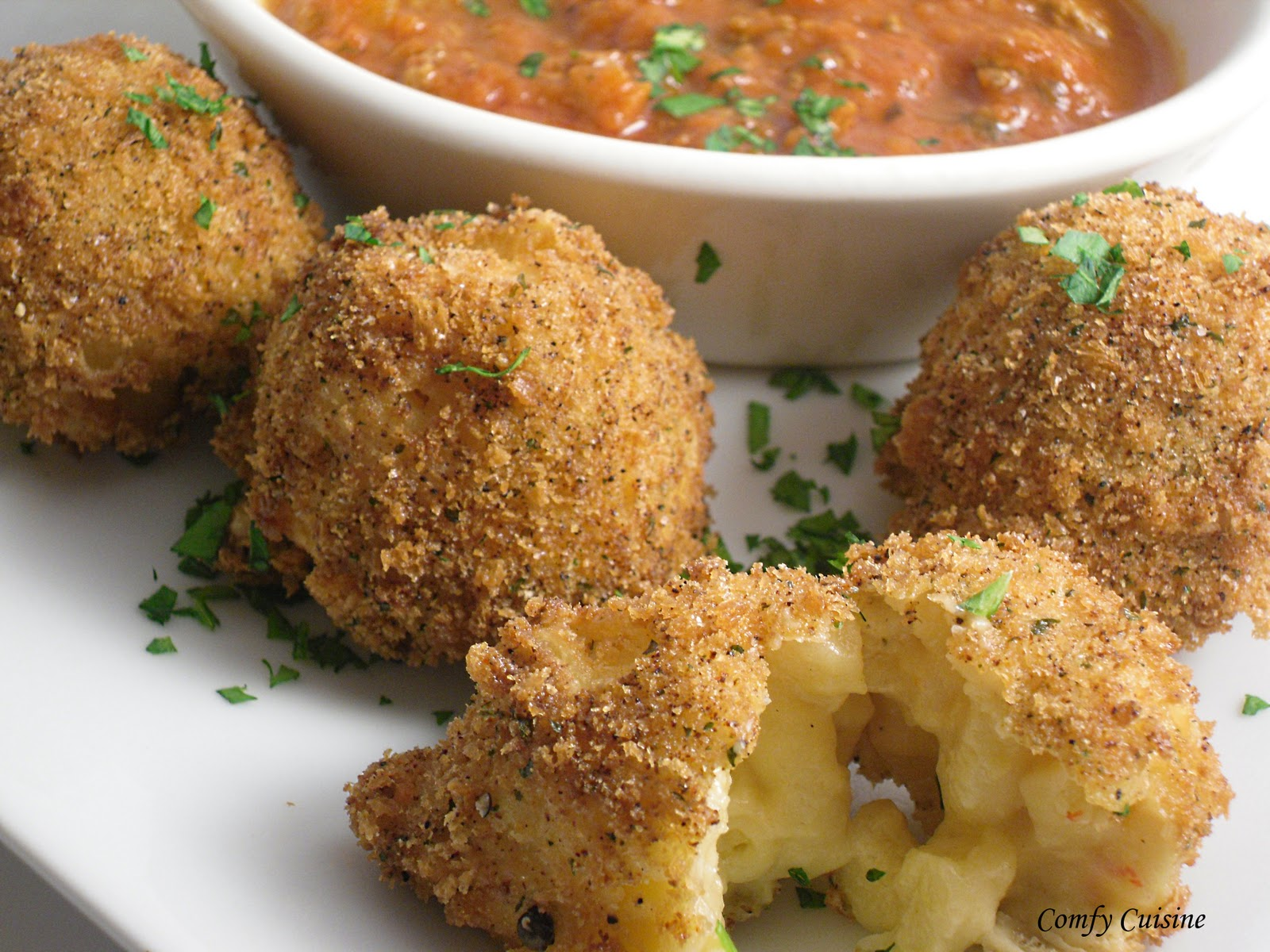... here is the recipe for the Fried Mac and Cheese Balls. Hope you enjoy