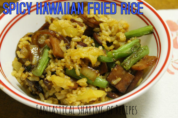 Spicy Hawaiian Fried Rice | A little ham & pineapple fried rice with a kick of jalapeno #recipe