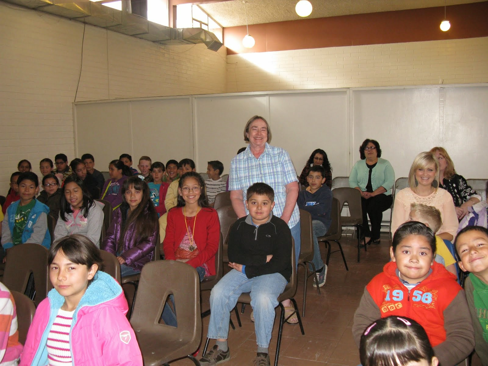 School assembly in Colonia Juarez