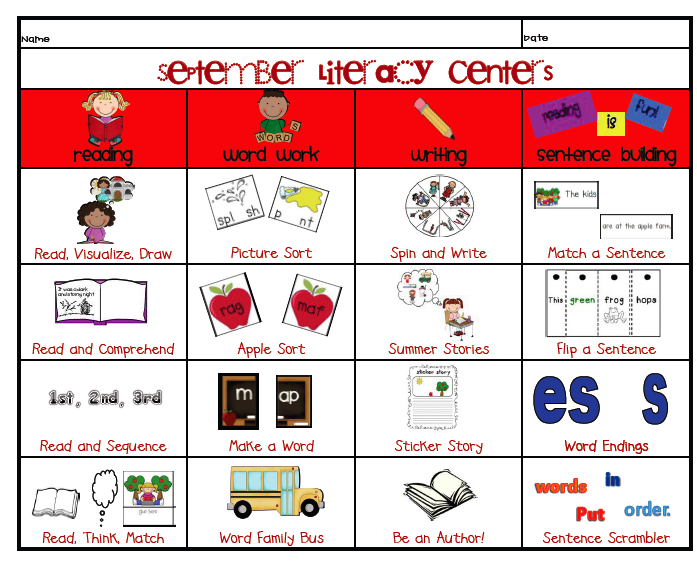 This is a photo of Crazy Printable Literacy Centers First Grade