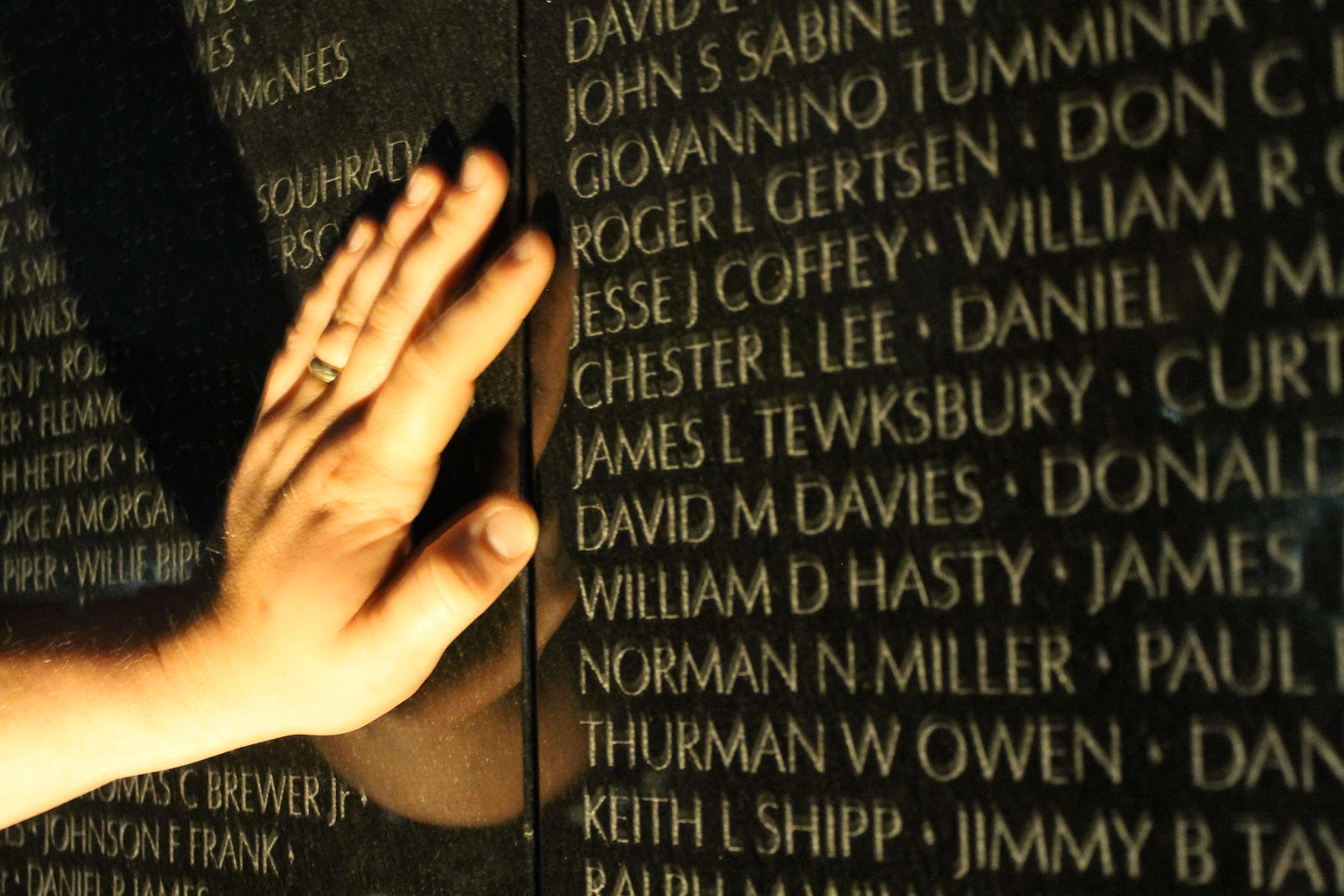 Finding a lost loved one on the Vietnam Wall Memorial - Honor, Reflect and Remember this Memorial Day