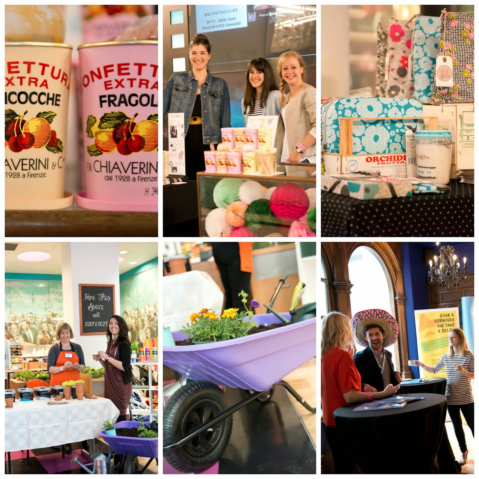 Sponsors at the Blogtacular event. BandQ, The Hambledon, Thompson Holidays, Betty & Walter.