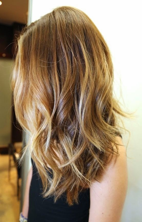 shoulderlength ombré look