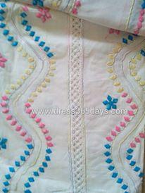 Applique work in Semi Stitched Salwar+Dupatta
