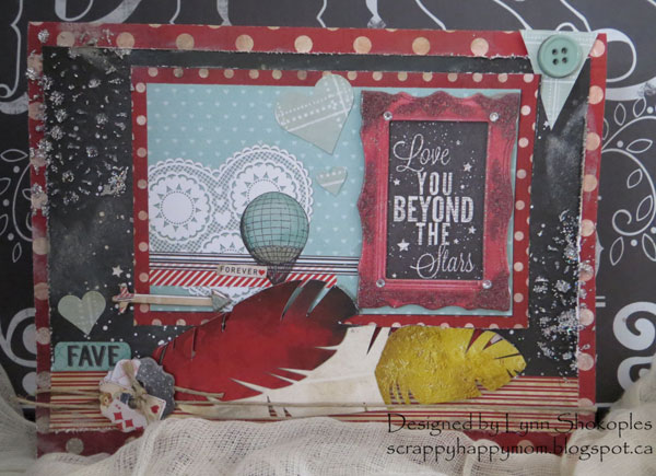 Star Crossed Cards by Lynn Shokoples featuring the Star Crossed Collection for BoBunny