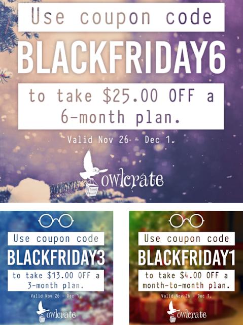 owl crate subscription box coupon black friday