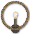 Rope and Iron Wall Sconce