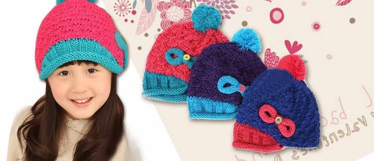 mũ len hàn quốc cho bé gái