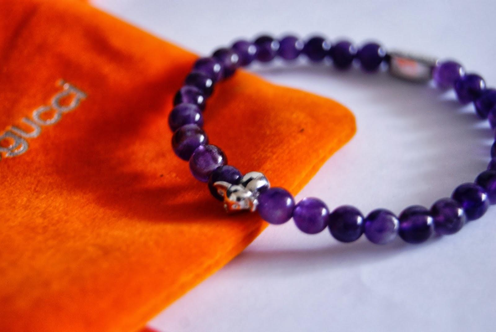 Joseph Nogucci Memory Stone Elephant Bracelets: Purple Amethyst Friendship, White Jade Renewal, Red Coral Love Fashion Style Jewlery Melanie.Ps The Purple Scarf Toronto Canadian