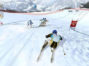gioco pc e cellulari di gare di sci
