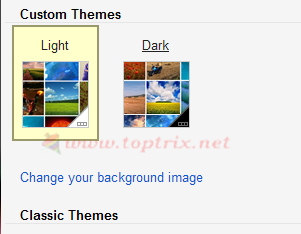 change background image in Gmail inbox