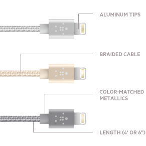 Belkin Mixit Flat Lightning to USB Cable (Black)