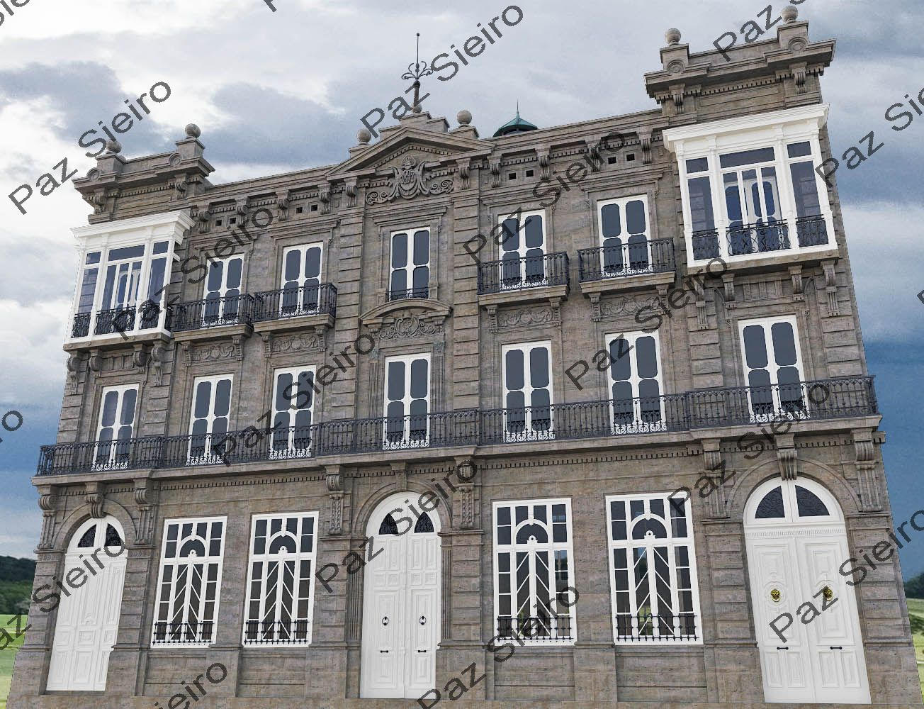 Works 3d edificio sime n 1894 r a progreso ourense arquitecto serra y pujol - Arquitectos ourense ...