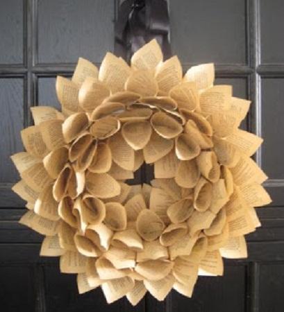 Corona de navidad con papel paso a paso manualidades - Manualidades de navidad paso a paso ...