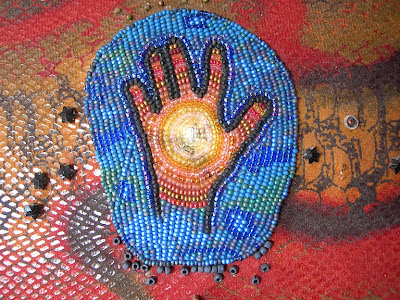 bead embroidery, healing hand