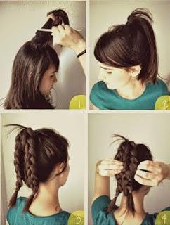 cara kepang rambut