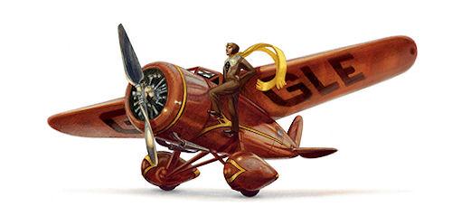 Aniversário de Amelia Earhart Celebrado no Google Doodle